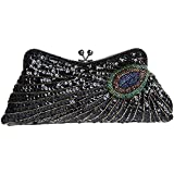 Fawziya® Kiss Lock Sequin Clutch Purse Peacock Clutch Bag