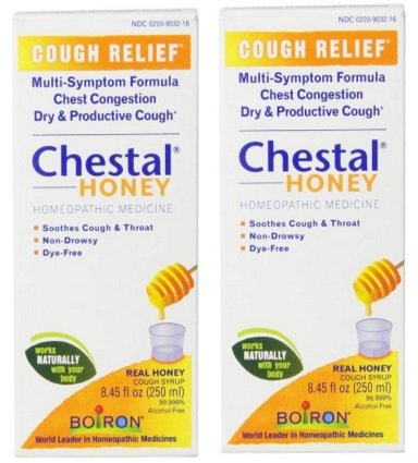 Chestal Cough Syrup (Boiron Chestal for Cough Syrup, Honey, 2 Pack of 8.45 Fluid Ounce)