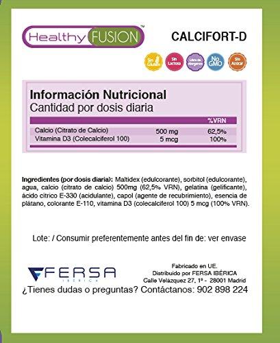 Calcio + Vitamina D con tecnología de microencapsulación - Para unos huesos sanos y fuertes - 30 gominolas sin azúcar de rápida absorción: Amazon.es: Salud ...
