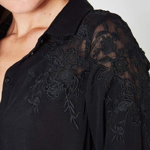Noir Chemise brode Noir Chemise Femme brode Femme Promod Promod Promod 1tIqrIxR