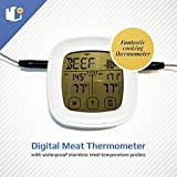 Dual Probe Instant Read Digital Meat Thermometer with Waterproof...
