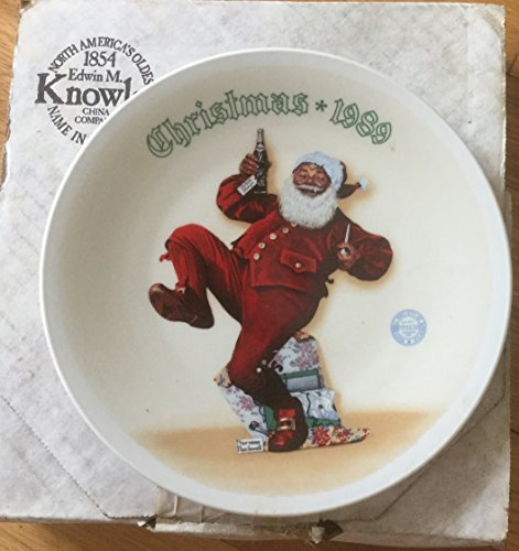 Knowles Jolly Old St. Nick By Norman Rockwell Christmas 1989 Collector Plates ()