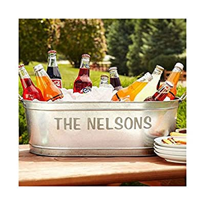 Galvanized Personalized Beverage Tub Most Watched