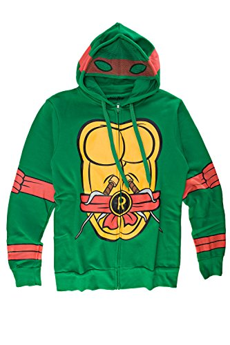 Teenage Mutant Ninja Turtles I Am Raphael Mens Zip-Up Costume Hoodie | -