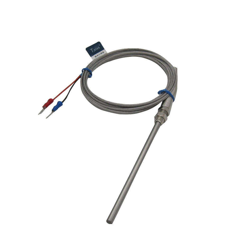 K Type Thermistor Temperature Sensor Probe Temperature Controller,100mm/4 Long Probe Thermocouple