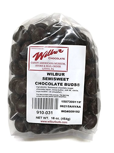 Wilbur Buds Semisweet Dark Chocolate Buds, 16 Oz. Bag (Wilbur Chocolate Buds compare prices)