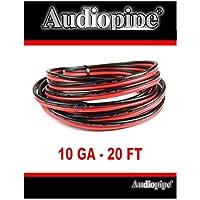 Audiopipe 20 Feet 10 GA Gauge Red Black 2 Conductor Speaker Wire Audio Cable