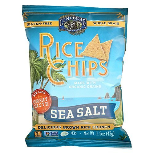 Lundberg Organic Original Sea Salt Rice Chips, 1.5 Ounce - 24 per case.
