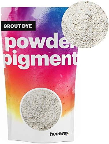 Hemway Grout Dye Pigment Concrete Colour Powder Render Mortar Pointing Powdered Brick Toner (3.6oz / 100g, Metallic Chalk White) (Mix Patio Concrete For)
