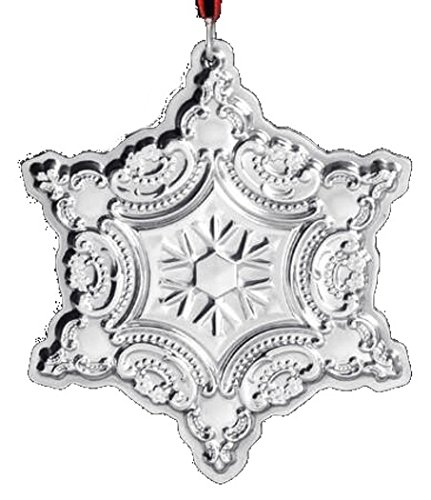 (2001 Wallace Snowflake Sterling Silver Christmas Ornament 4th Edition)