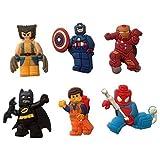 Lego Movie Fridge Magnets 6 Pcs Set #1