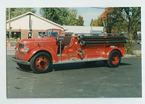 Amazon com: 1941 Chevy Oren Fire Truck Original Small Photo Morehead