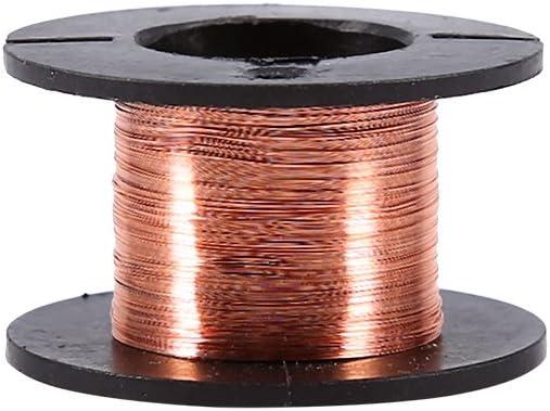 Fictory Alambre de Soldadura 5pcs 0.1mm Alambre esmaltado Alambre de Cobre del bobinado Longitud del Cable de reparaci/ón esmaltado 15m Cable de bobinado Cable de im/án