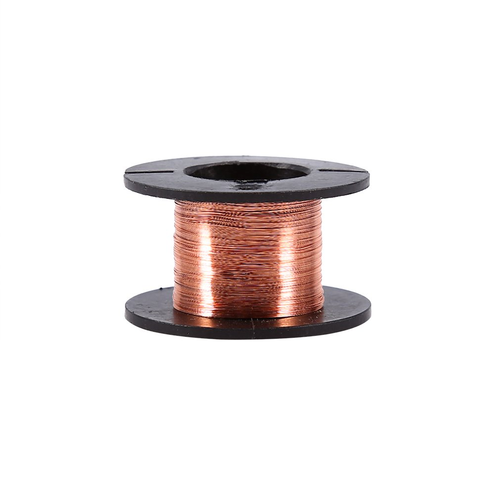 5 Rolls Copper Enameled Wire 0.1mm Magnet Winding Repair Wire 15m for Connecting or Soldering Purpose Hilitand