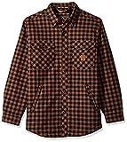 Walls Men's Vintage Heavy Weight Bonded Plaid Jac Shirt, Brown Plaid, M