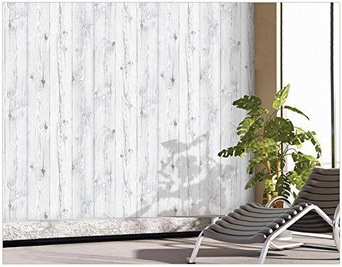 50/cm X 3/m salon Amovible Bois blanchi vintage salle de bain Etanche Papier peint mural autocollant PPVC /étag/ère Epaisseur de 0,15/mm chambre Pour cuisine