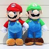 Super Mario Bros Mario Luigi Soft Plush Stuffed Animals Doll Kids Toys 2pcs/set