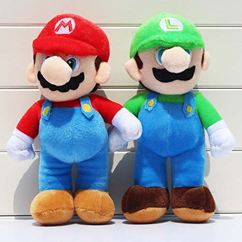 Super Mario Bros Mario Luigi Soft Plush Stuffed Animals Doll Kids Toys 2pcs/set children store
