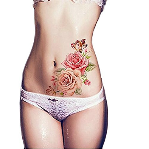 Nicole diary 1 sheet waterproof temporary tattoo sticker for Fake tattoos amazon
