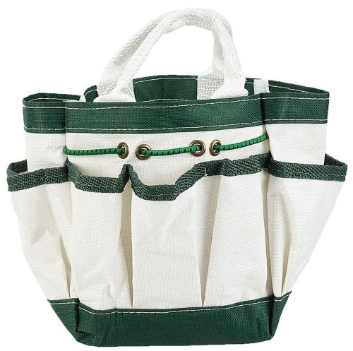 Hawk Canvas Garden Tote With 7 Pockets White 9