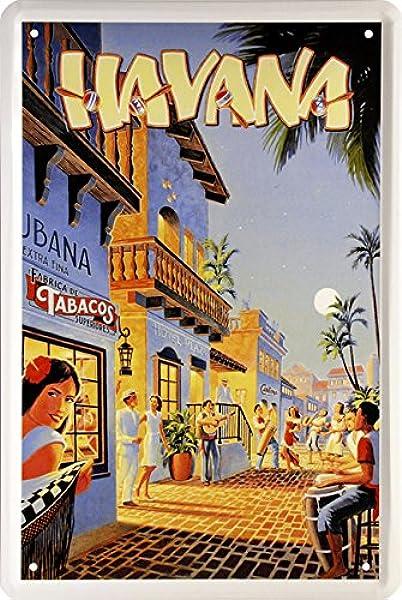 Night Life In Havana Cuba Ron real Caribe Flair 20 x 30 ...