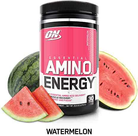 OPTIMUM NUTRITION ESSENTIAL AMINO ENERGY, Watermelon, Keto Friendly Preworkout and Essential Amino Acids with Green Tea and Green Coffee Extract, 30 Servings