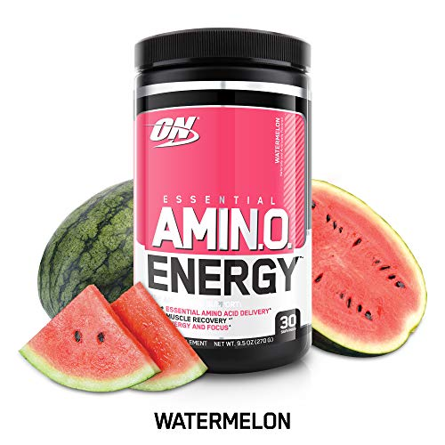 OPTIMUM NUTRITION ESSENTIAL AMINO ENERGY, Watermelon, Keto Friendly Preworkout and Essential Amino Acids with Green Tea and Green Coffee Extract, BCAA Powder, 30 Servings