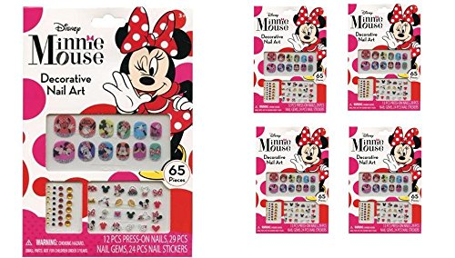 Minnie Mouse 65 pcs Decorative Nail Art Nail Stickers and Ge