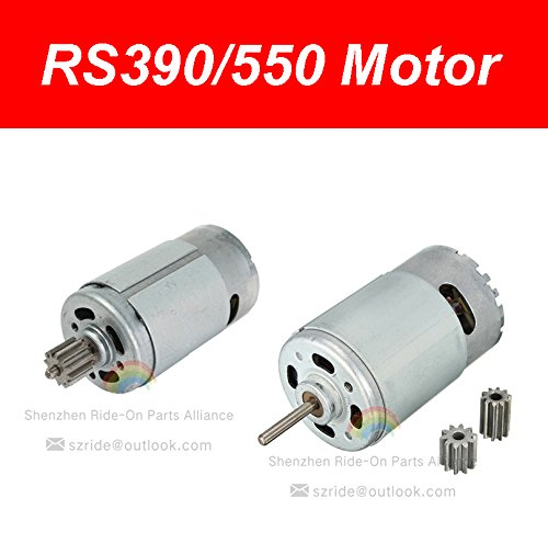 Universal 550 390 Electric Motor RS550 RS390 Motor Drive Engine Accessory for Kids Power Wheels RC Car Children Ride on Toys Replacement Parts (390 6V, 13000) (Rc Engine Electric Car)