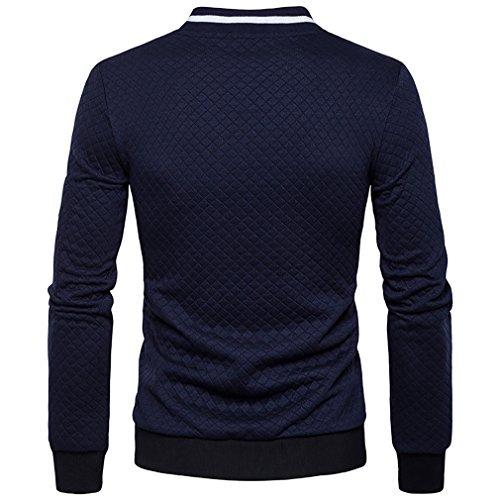 Attaccapanni Autunno 6 Classic Fashion Confortevole Giacca Primavera Uomo nbsp;– nbsp;patchwork In Taglia Cappotti Fen colore Colletto Xl Baseball Da 1n7x0a0Wwz