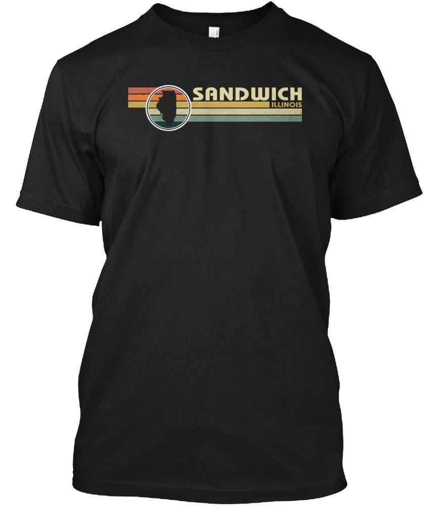 Illinois Vintage 1980s Style Sandwich Il Tshirt Tagless Tee