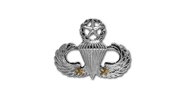 Army Badge Regulation Size Senior Combat Parachute Second Award mirror finish