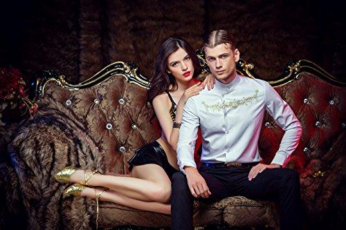 FANZHUAN Stylische Herren Hemden Weiß Hochwertig Non Iron Slim Fit Gute Qualität