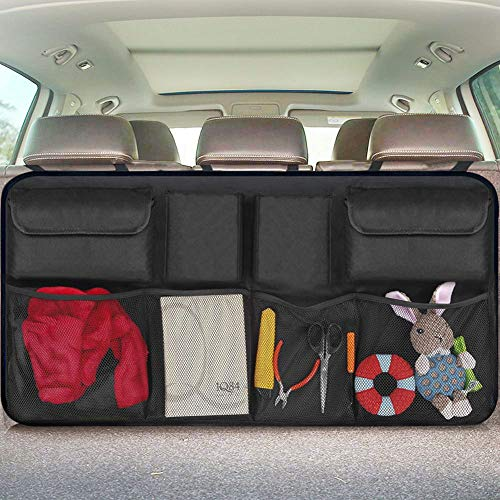 Car Organizer Backseat Trunk Storage, Auto Hanging Back Seat Storage, Car Cargo Trunk Storage Organizer Bag,Bag Back Seat Organizer for Kids, Multipurpose Cargo Accessories SUV & Car Organizer