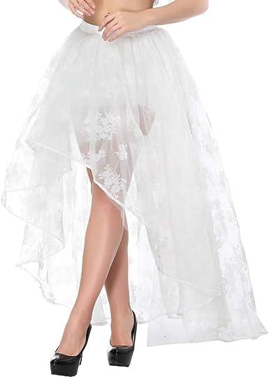 Zooma Falda Asimétrica para Mujer Vintage con Volante Gitana ...