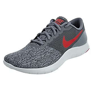 Nike Men's Flex Contact Running Shoe Cool Grey/University Red-Anthracite 7.5