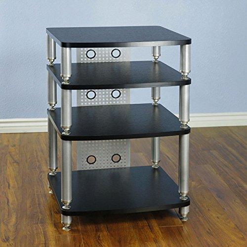 VTI 34000 Series Professional Audio Rack (Silver Poles Black Shelves) 34664 by VTI