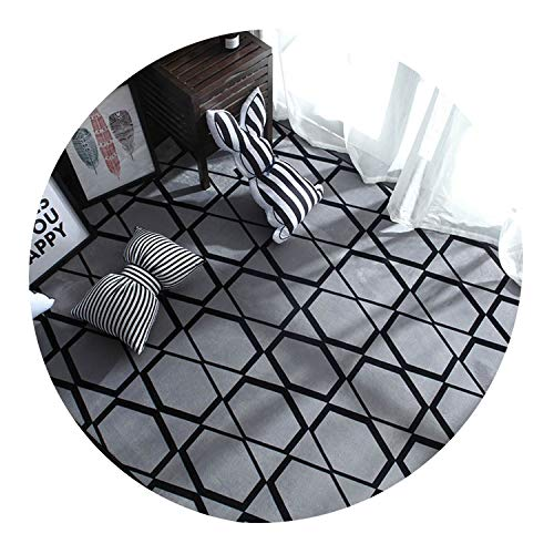 (Printed Plush Carpet for Living Room Bedroom Rug Modern Anti-Slip Carpet Mat Rug Sofa Coffee Table Study Bedside Carpet,Color 2,45Cm X 75Cm)