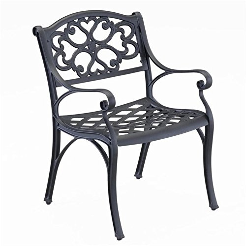 Amazon.com - BOWERY HILL Patio Dining Arm Chair in Black