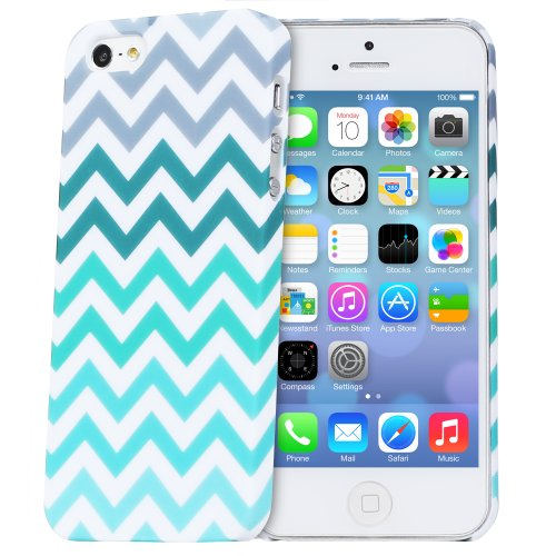 Fosmon MATT Series Rubberized Chevron Case for Apple iPhone 5 / iPhone 5S (Mint)