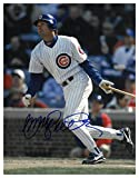 Ryne Sandberg Signed Autograph Chicago Cubs 11X14 Photo minor dings at bat- middle sig - Certified Authentic