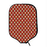YOLIYANA Abstract Durable Racket Cover,Stylish 60s Hippie Style Colorful Geometrical Dotted Repeating Symmetric Print for Sandbeach,One Size