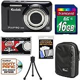 Kodak PIXPRO Friendly Zoom FZ53 Digital Camera (Black) 16GB Card + Case + Tripod + Kit