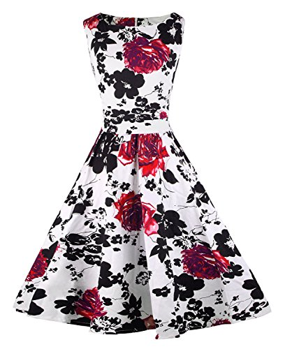 Killreal-Womens-Vintage-Floral-Print-Spring-Summer-Cocktail-Casual-Party-Dress