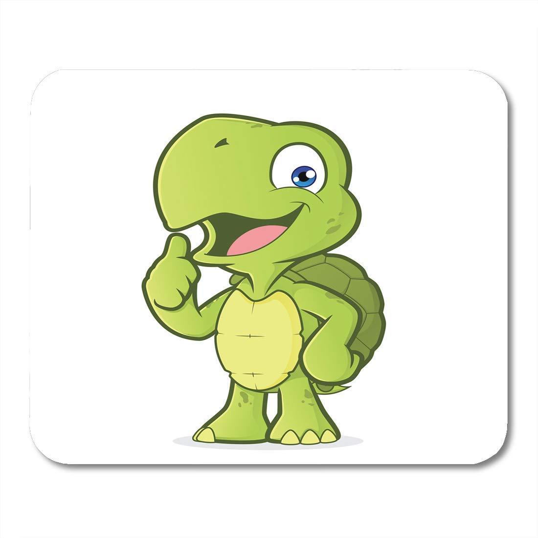 Cojín de ratón Tortuga verde de dibujos animados Dando los ...