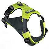 Tuff Mutt Dog Harness for Medium & Large Breeds, Easy On Easy Off with a No Pull Front Chest Clip, Walk, Run & Hike with Confidence, Stay Safe with Bright Reflective Stitching