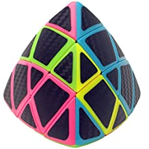 CuberSpeed Phantom Carbon fiber sticker YuXin Mastermorphix stickerless pink with Black Carbon fiber sticker 3X3 Magic cube