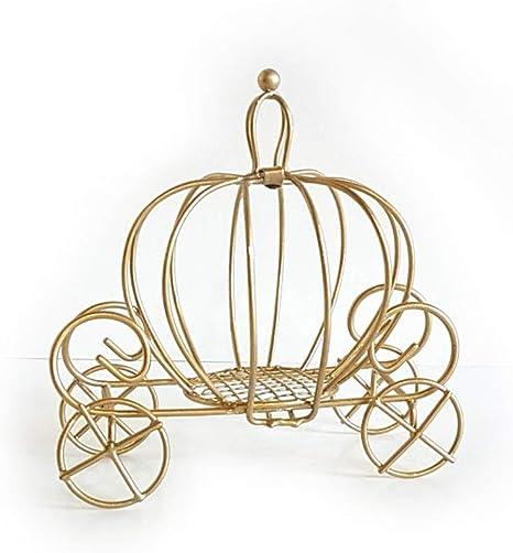 Amazon Com Small Metal Gold Cinderella Pumpkin Carriage Favor Box Home Kitchen