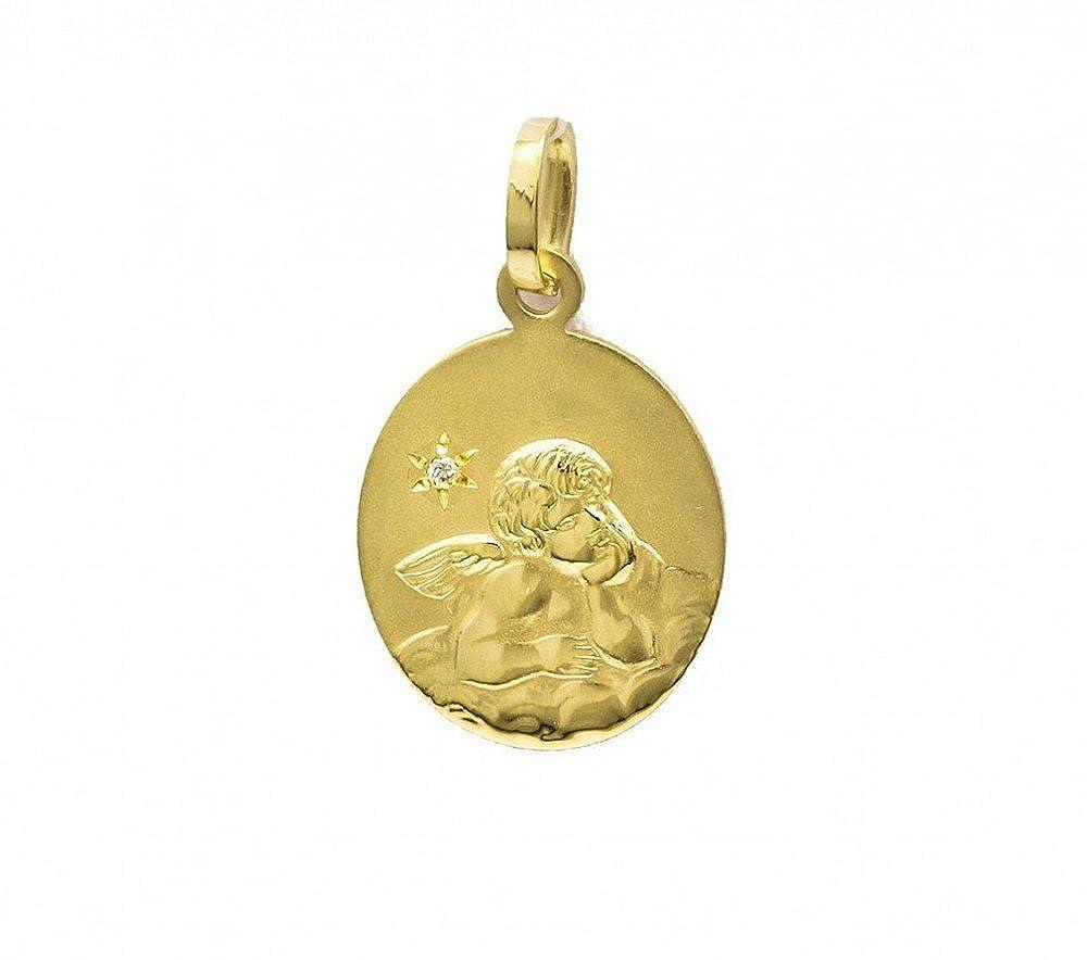 Schutzengel Weißgold 585 Weißgoldanhänger 14 kt Gold kleiner Anhänger Engel