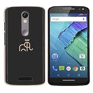 LECELL--Funda protectora / Cubierta / Piel For Motorola MOTO X3 3rd -- elefantes rey --